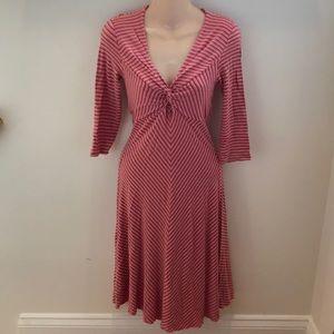 Anthropologie Ella Moss Pink Striped Dress